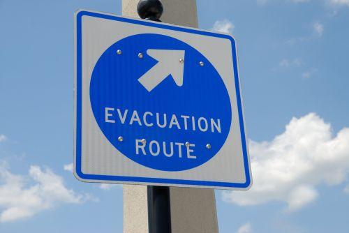evacuation sign signage safety