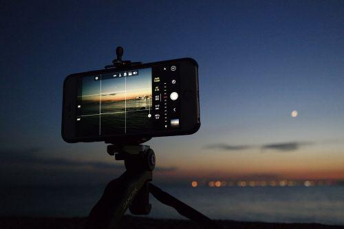 evening iphone macro