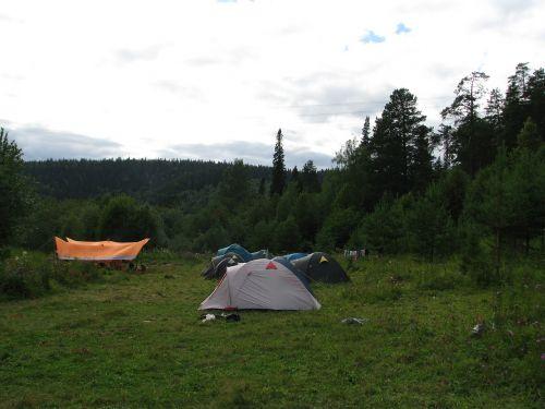 evening parking camp