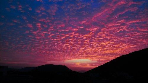 evening  clouds  orange clouds