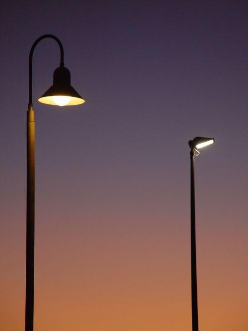 evening lights street
