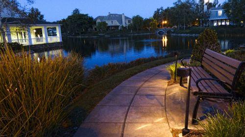 vakaras, tuščia, stendas, sėdynė, ežeras, vanduo, mėlynas, dusk, lauke, vakare tuščias stendas