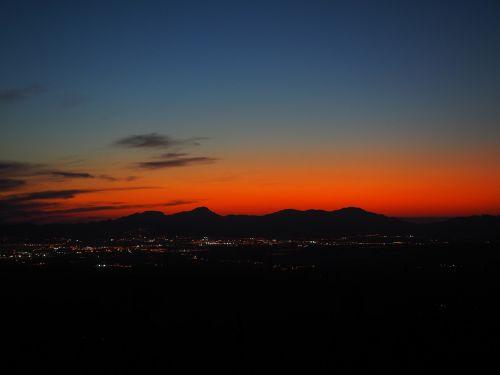 evening hour sunset palma