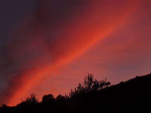 vakarinis dangus,saulėlydis,afterglow