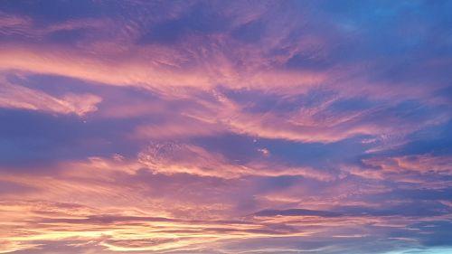 evening sky november dresden