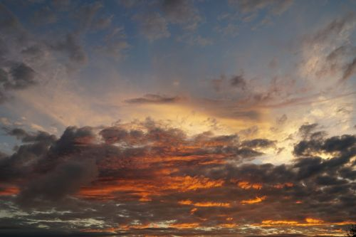 evening sky clouds afterglow
