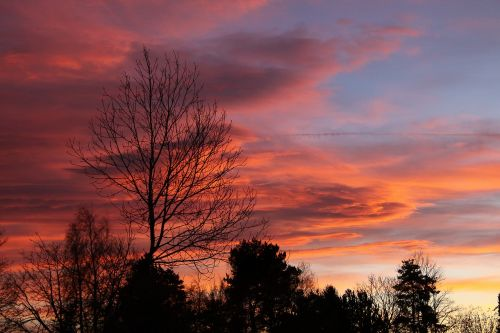 evening sky nature abendstimmung