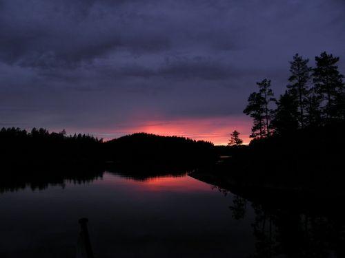 evening sky sunset savonlinna