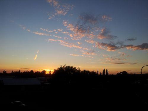 evening sky aschaffenburg germany