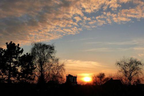 evening sky sunset clouds