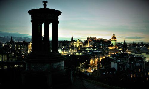 Evening Skyline City Of Edinburgh