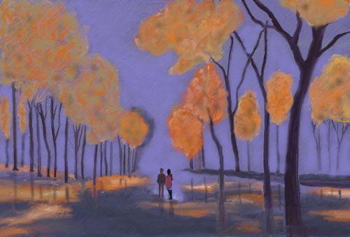 evening walk before friendship
