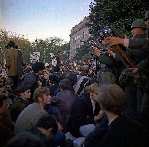 event against the vietnam war entrance to the pentagon