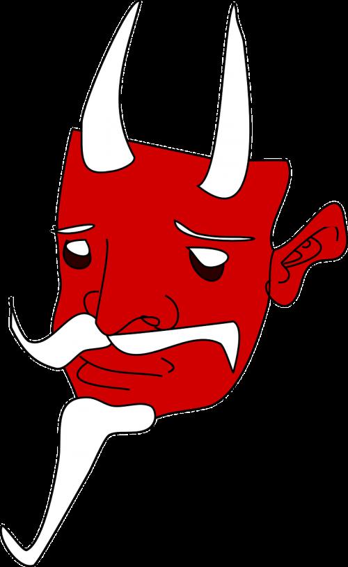 evil mask red