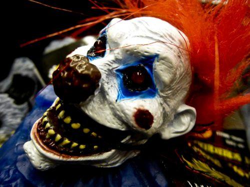 Evil Bloody Clown Face