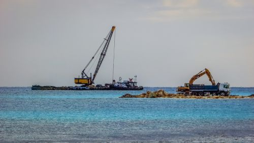 excavator truck dredger