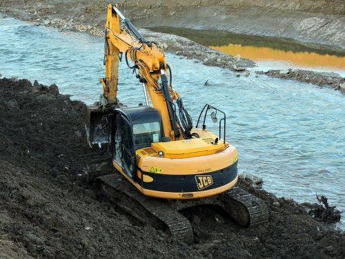 excavator river torrent