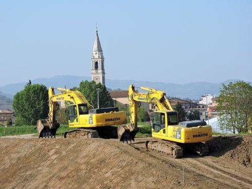 excavator earthmoving revolving