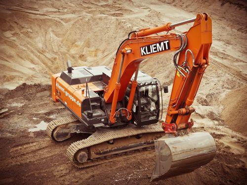 excavators construction site