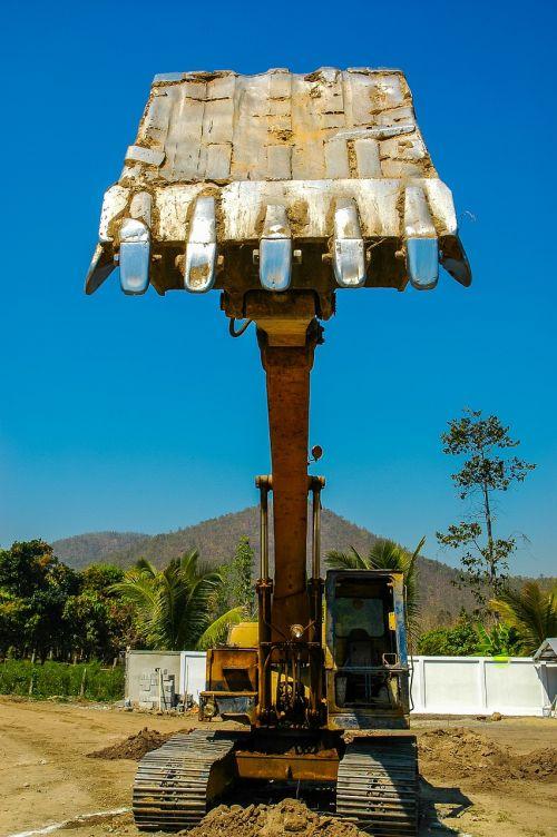 excavators backhoe bucket construction machine