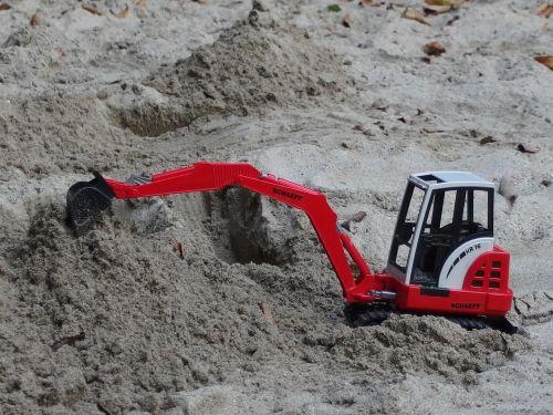 excavators siku sand