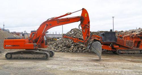 excavators sorting grapple demolition
