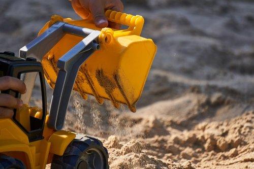 excavators  sand  loading