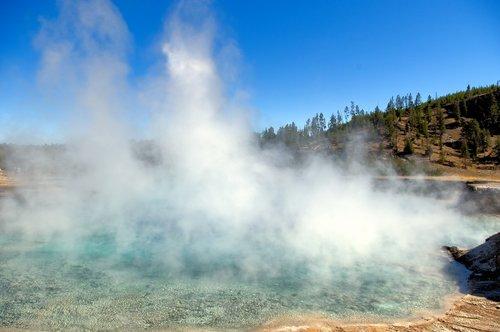 excelsior geyser crater  excelsior  geyser
