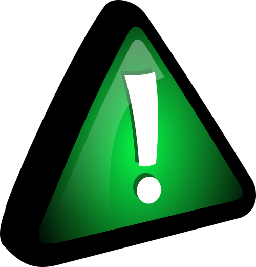 exclamation green mark