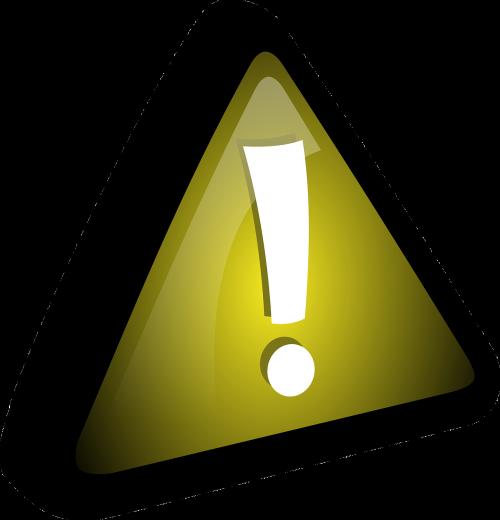 exclamation mark yellow