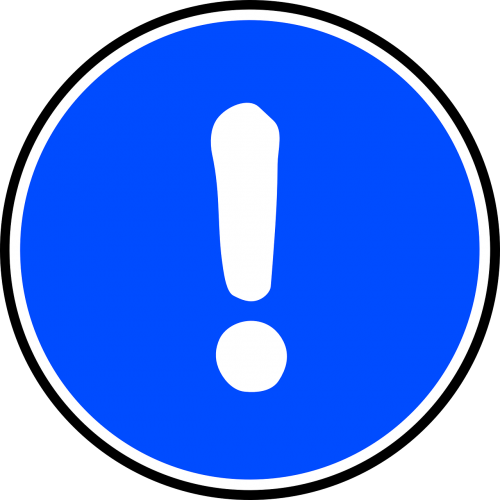 exclamation mark sign symbol