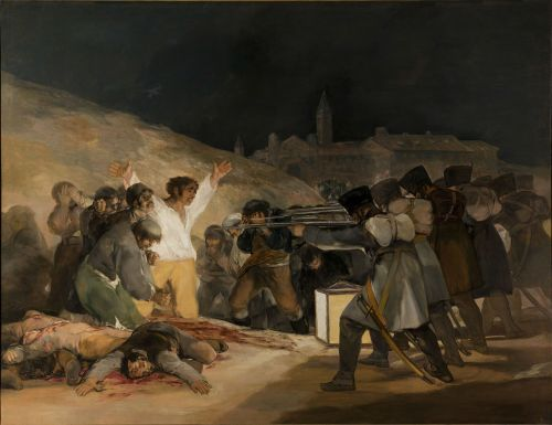 execution shooting oil on canvas