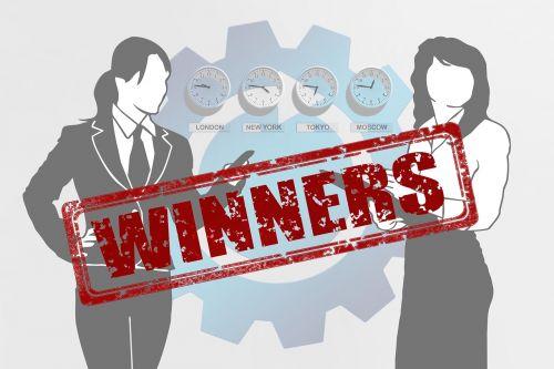 executive businesswoman winner