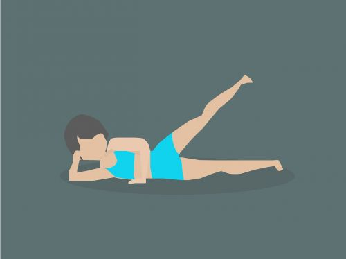 exercise side lying leg raises woman