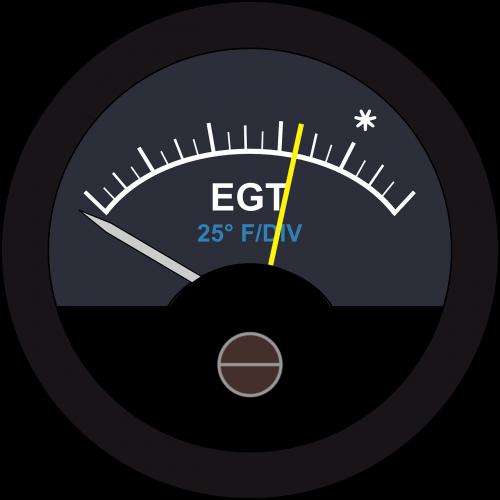 exhaust gas temperature gauge egt gauge temperature gauge