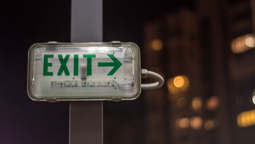 exit sign symbol