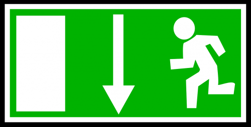 exit emergency sign