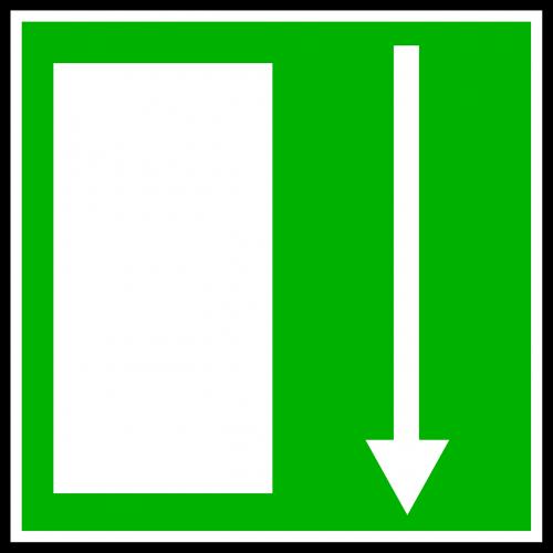 exit signs symbols