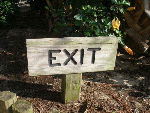 exit exit sign post