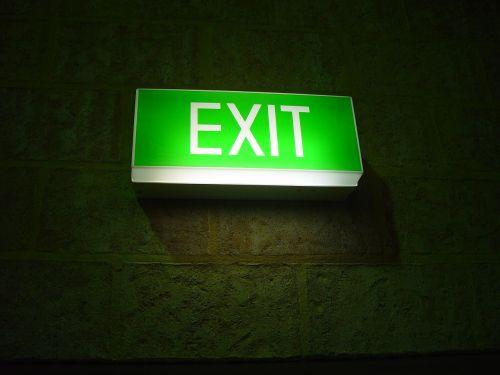 exit signs symbol