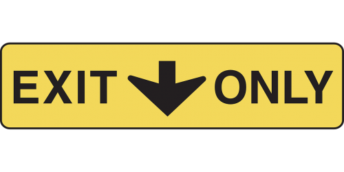 exit only arrow