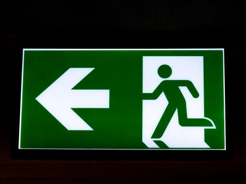 exit emergency exit escape route