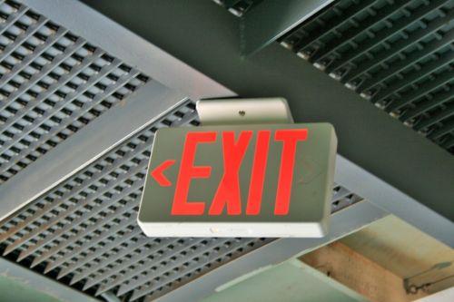 Exit Sign In Hanger