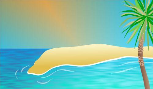 Exotic Beach Backdrop