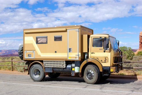 expedition vehicle in arches  vehicle  truck