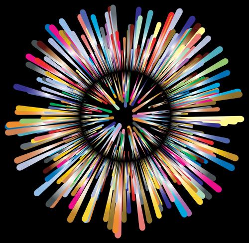 explosion colorful prismatic