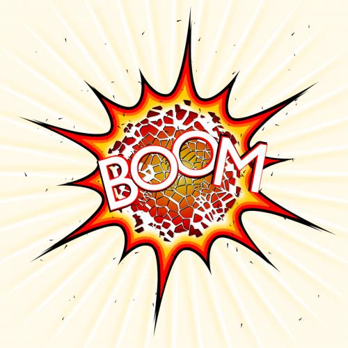 explosion pop boom