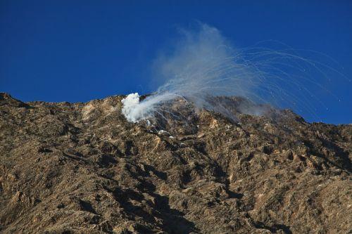 explosion grenade shelling