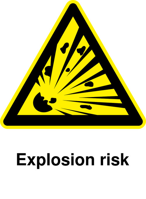 explosions pictogram caution