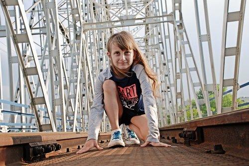 expression  girl  bridge